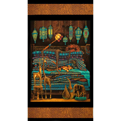 Princess on a Pea Around the World African Panel Black