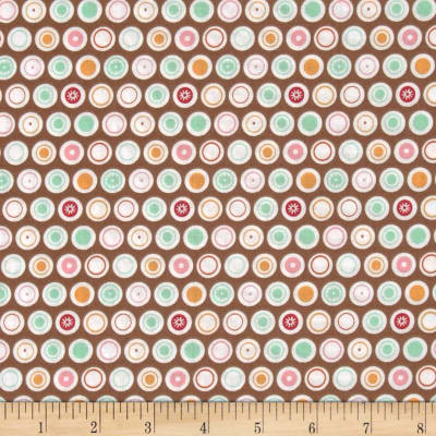 Riley Blake Flower Patch Dots Brown