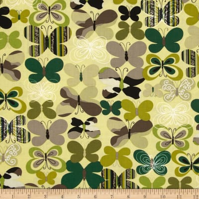 Kanvas Camo Mix Camo Butterfly Green