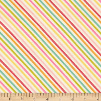 Riley Blake Fancy Free Flannel Stripe Multi