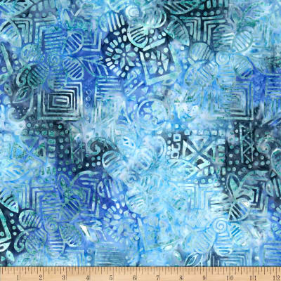 Michael Miller Batik Wood Block Blue