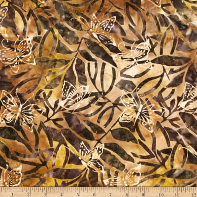 Michael Miller Batik Forest Butterflies Brown