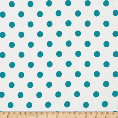 Cotton Jersey Knit Polka Dots Blue