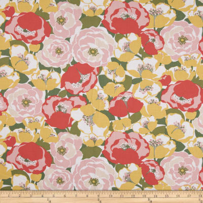 Kaufman Lennox Gardens Cotton Lawn Medium Floral Sunrise