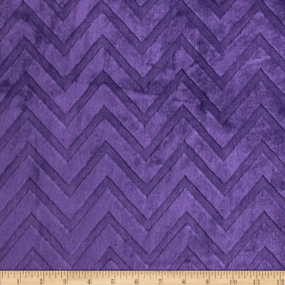 Shannon Minky Cuddle Embossed Chevron Amethyst