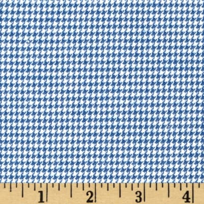 Kaufman Shetland Flannel Houndstooth Denim