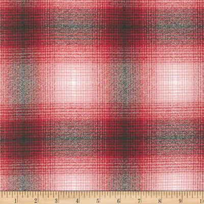 Kaufman Mammoth Flannel Plaid Red/Black