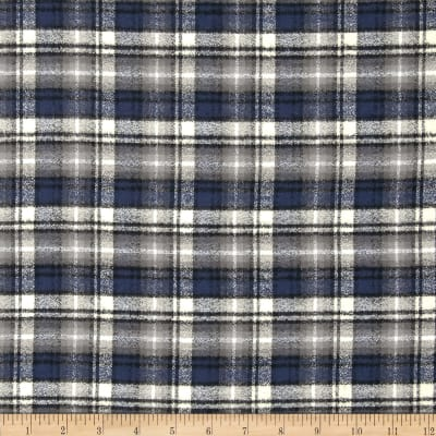 Kaufman Mammoth Flannel Plaid Ash