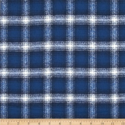 Kaufman Mammoth Flannel Plaid Cobalt