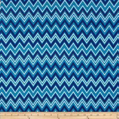 Kaufman Cool Cords Chevron Royal
