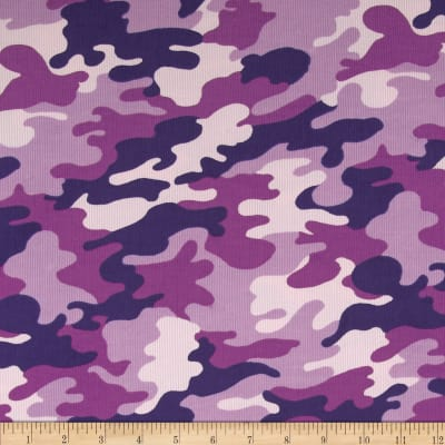 Kaufman Cool Cords Camo Orchid