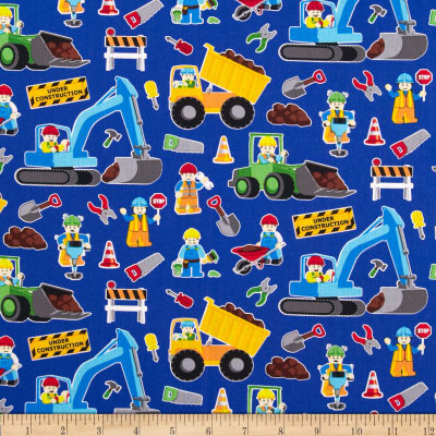 Timeless treasures construction zone royal discount for Timeless treasures galaxy fabric