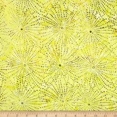 Timeless Treasures Tonga Batik Punch Galaxy Lemon