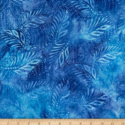 Timeless Treasures Tonga Batik Reef Leaves Blue