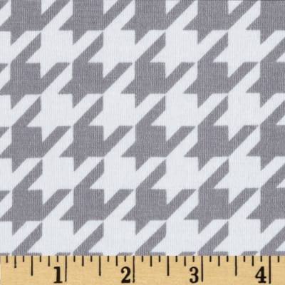 Riley Blake Cotton Jersey Knit Medium Houndstooth Grey