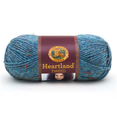Lion Brand Heartland Yarn Glacier Bay Tweed