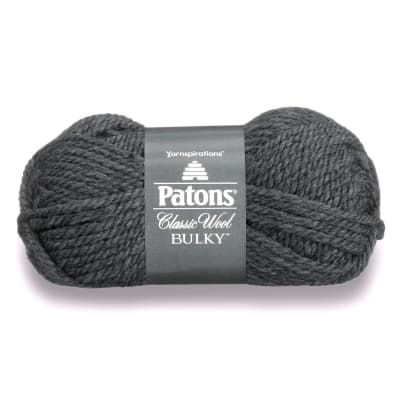 Patons Classic Wool Bulky Yarn (89042) Dark Grey Heather