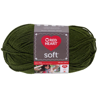 Red Heart Soft Yarn (9523) Dark Leaf