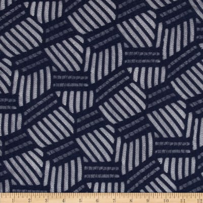 Enigma Stretch Mesh Lace Navy