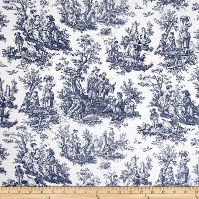 Waverly Rustic Life Toile Navy
