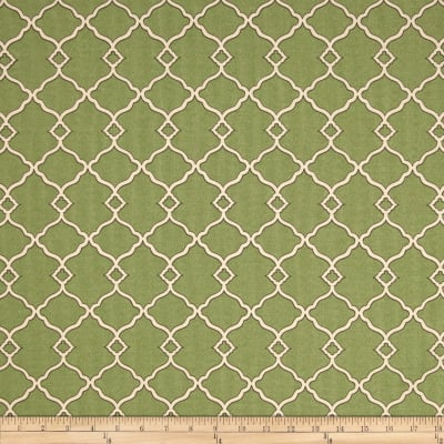 Waverly Sun N Shade Chippendale Fretwork Moss