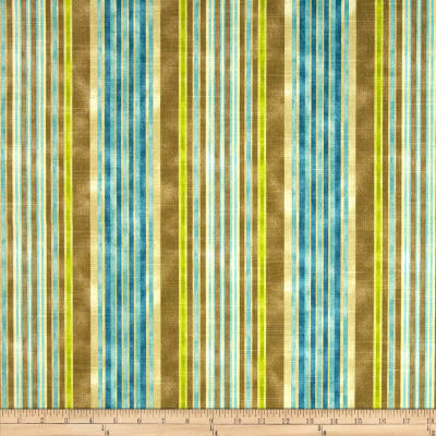 HGTV HOME One Way Stripe Slub Lagoon