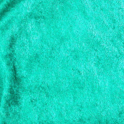 Crushed Panne Velour Kelly Green