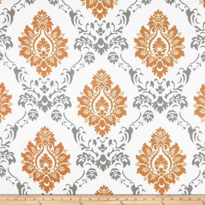 RCA Sheers Damask Orange/Grey