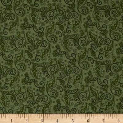Home For the Holidays Small Scroll Green