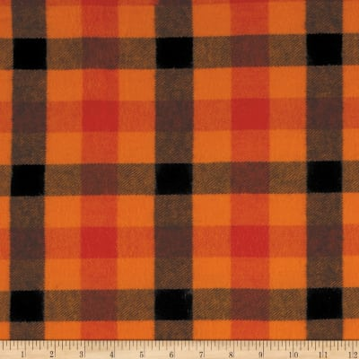 Primo Plaids Harvest Flannel Buffalo Plaid Orange