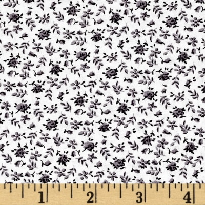 """108"""" Quilt Backing Floral Gray"""