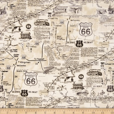 Timeless Treasures Route 66 Natural