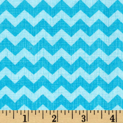 Timeless Treasures Chevron Aqua
