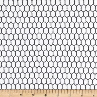 Timeless Treasures Chicken Wire White