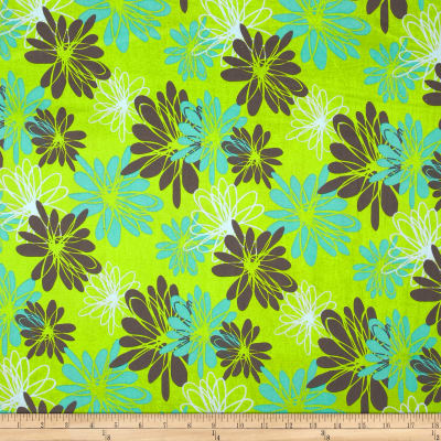 Blue Lagoon Large Floral Green