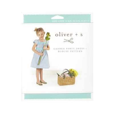 Oliver + S Garden Party Dress + Blouse Pattern Size 6m-4