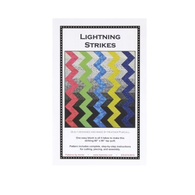By Annie Lightning Strikes Quilt Pattern