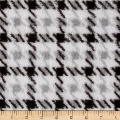 Whisper Coral Fleece Houndstooth White/Black
