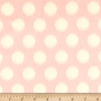 Heather Bailey Momentum Rayon Challis Threaded Dot Pink