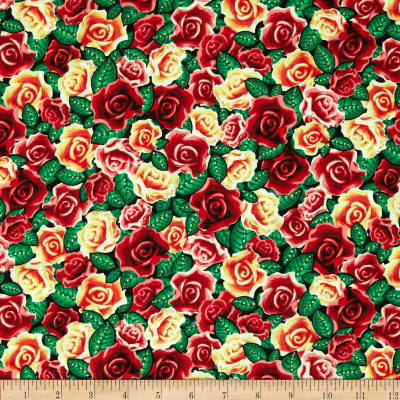 Kanvas Lady of Guadalupe Spanish Rose Metallic Red