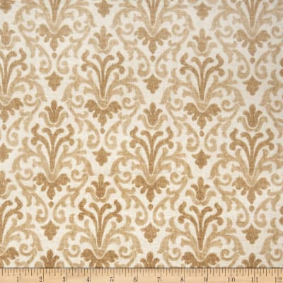 Jaclyn Smith Modern Damask Blend Fresh Gold