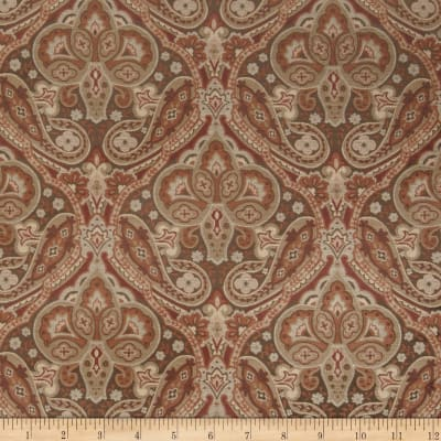 Jaclyn Smith 02102 Paisley Tapestry Jacquard Spicewood