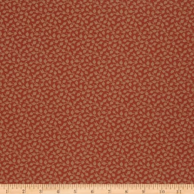 French General Petite Floral Jacquard Rural Red