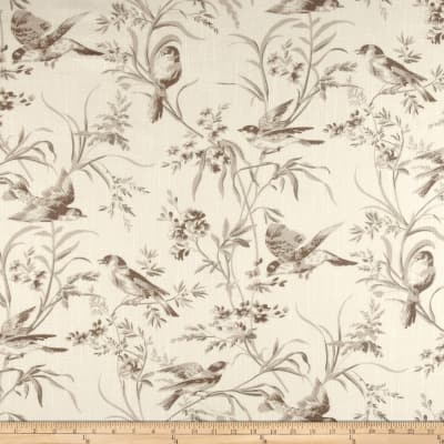 French General Bird Toile Blend Bisque
