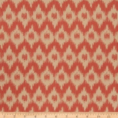 French General Ikat Jacquard Rouge