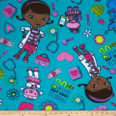 Disney Doc McStuffins Fleece Turquoise