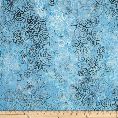 Timeless Treasures Tonga Batik Pacifica Escargot Marine