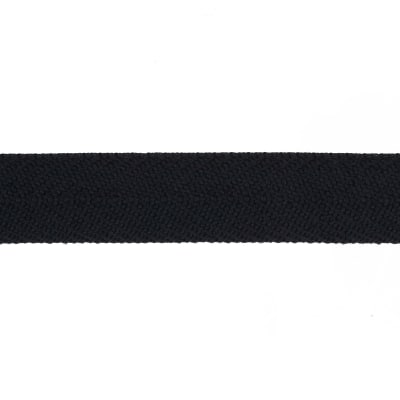 "May Arts 3/4"" Twill Ribbon Spool Black`"