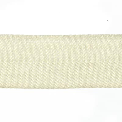 "May Arts 1 1/2"" Twill Ribbon Spool Ivory"