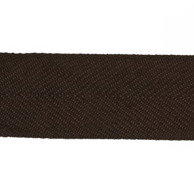 "May Arts 1 1/5"" Twill Ribbon Spool Brown"